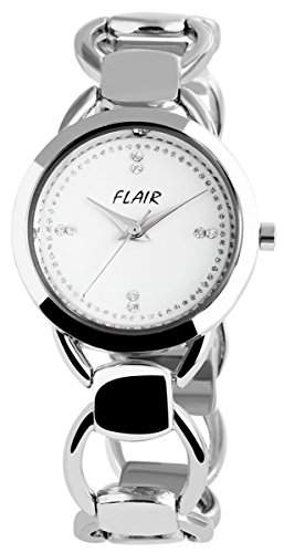 Damenuhr mit Metallarmband Weiss Armbanduhr Uhr 100422000013