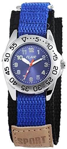 Damenuhr mit Textilklettband Dunkelblau Armbanduhr Uhr 100523000006