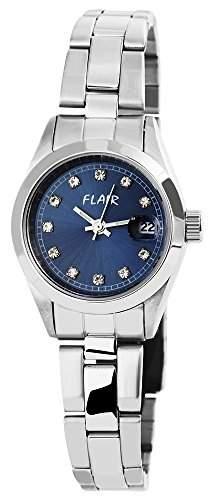 Damenuhr mit Edelstahlarmband Blau Armbanduhr Uhr 100623000003