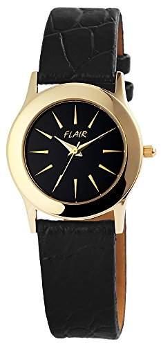Damenuhr Uhr watch Armbanduhr mit Lederimitationarmband 100701000004