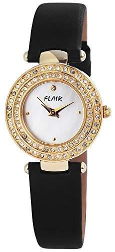 Damenuhr mit Lederimitationarmband Weiss Armbanduhr Uhr 100702500002