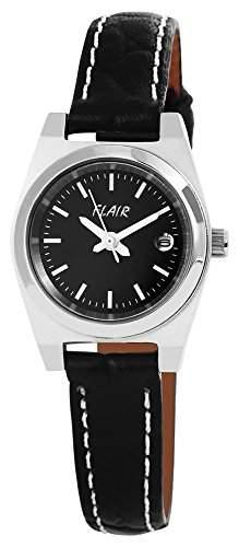 Damenuhr Uhr watch Armbanduhr mit Lederimitationarmband 100721000003
