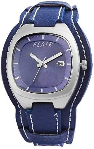 Herrenuhr mit Lederimitationarmband Blau Armbanduhr Uhr 200323000016