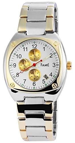 Herrenuhr mit Metallarmband Weiss Armbanduhr Uhr 200412000034