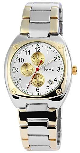 Herrenuhr mit Metallarmband silberfarbig Armbanduhr Uhr 200412500034