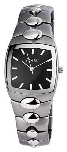 Herrenuhr mit Metallarmband Schwarz Armbanduhr Uhr 200421000034
