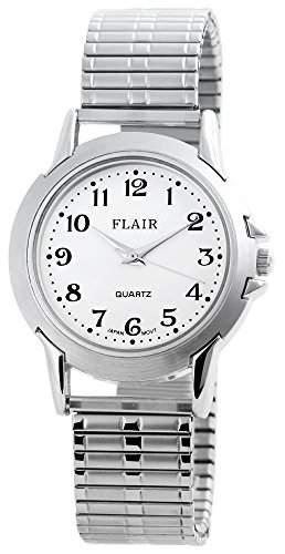 Herren Analog Armbanduhr mit Quarzwerk 200422000052 und Metallgehaeuse mit Metallzugband Silberfarbig Ziffernblattfarbe Weiss Armbandbreite 17 mm
