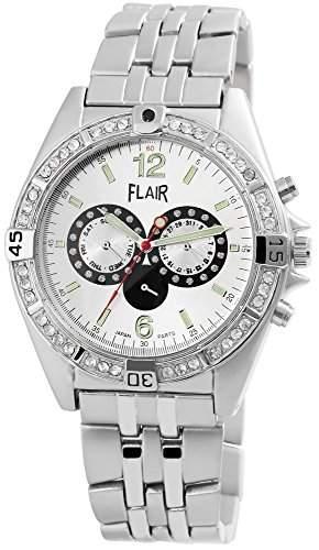 Herrenuhr mit Metallarmband silberfarbig Armbanduhr Uhr 200422500006