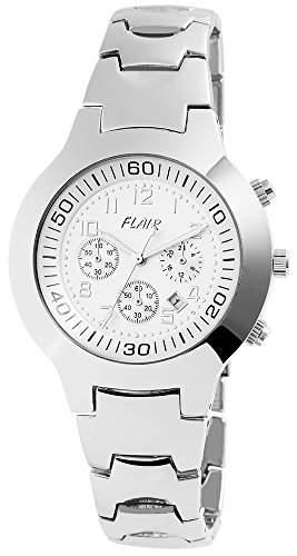 Herrenuhr mit Metallarmband silberfarbig Armbanduhr Uhr 200422500007