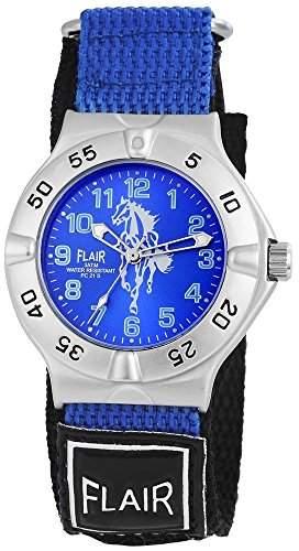 Herrenuhr mit Textilklettband Blau Armbanduhr Uhr 200523000003