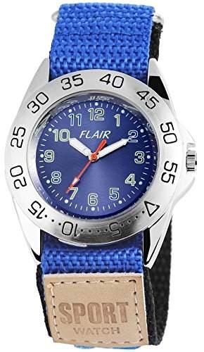 Herrenuhr mit Textilklettband Blau Armbanduhr Uhr 200523000004