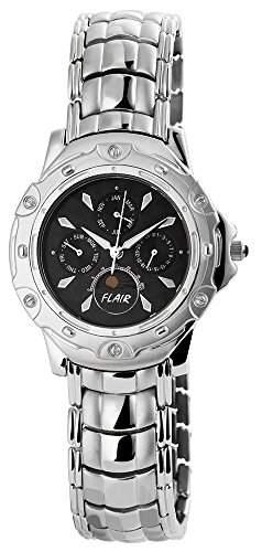 Herrenuhr mit Edelstahlarmband Anthrazit Armbanduhr Uhr 200621000003