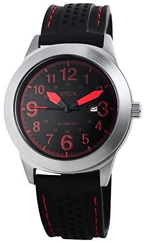 Herrenuhr mit Silikonarmband Schwarz Armbanduhr Uhr 200821200013