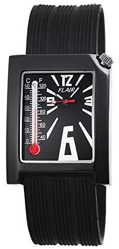 Herren Analog Armbanduhr mit Quarzwerk 200871000011 und Metallgehaeuse mit Silikonarmband in Schwarz und Dornschliesse Ziffernblattfarbe schwarz Bandgesamtlaenge 24 cm Armbandbreite 24 mm