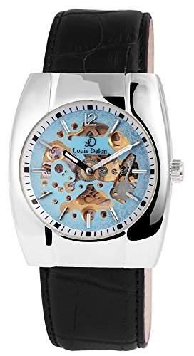 Herrenuhr mit Echtlederarmband Hellblau Armbanduhr Uhr 200923500012