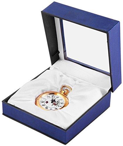 Analog Taschenuhr mit Quarzwerk mit Motiv Wappen 48G193 G2045702000001 Goldfarbiges Gehaeuse im Masse 42mm x 9mm mit Mineralglas