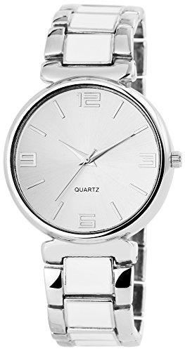 Damenuhr Armbanduhr Metallarmband 20cm Clipverschluss Silberfarbig RP4682200011