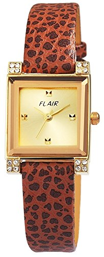 mit Echtlederarmband goldfarbig Armbanduhr Uhr 100304000009
