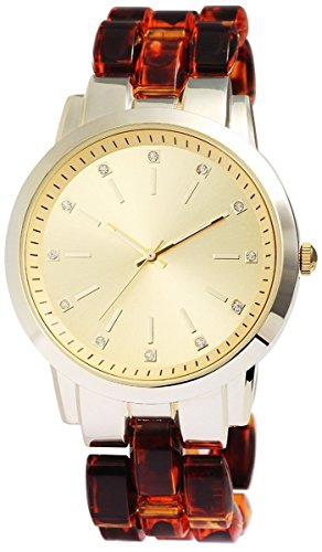 mit Kunststoffarmband goldfarbig Armbanduhr Uhr 100484000040