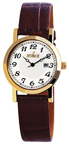 mit Lederimitationarmband silberfarbig Armbanduhr Uhr 100702000010