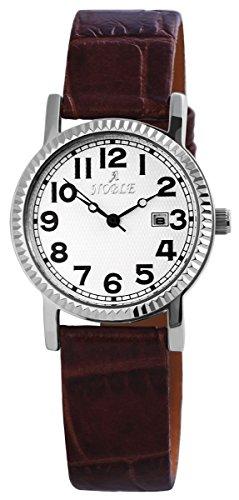 mit Lederimitationarmband Weiss Armbanduhr Uhr 100722000009
