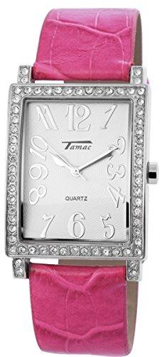 mit Lederimitationsarmband Armbanduhr Uhr silberfarbig 100322100170