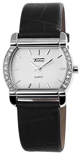 mit Lederimitationsarmband Armbanduhr Uhr Weiss 100322000127