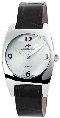 Damenuhr mit Lederimitationsarmband Armbanduhr Uhr Weiss 100322000141