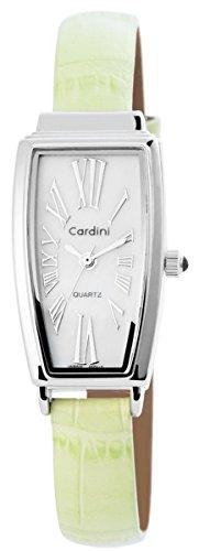 Damenuhr mit Lederimitationsarmband Armbanduhr Uhr Weiss 100322000147