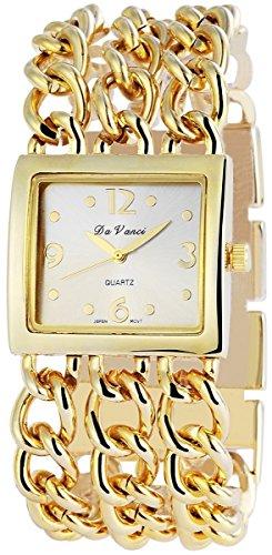 Damenuhr mit Metallkettenarmband silberfarbig Armbanduhr Uhr 100402500003