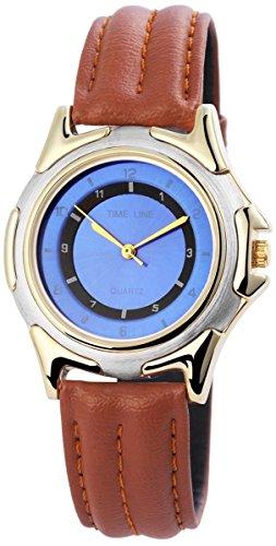 mit Lederimitationsarmband Armbanduhr Uhr Blau 100313000164