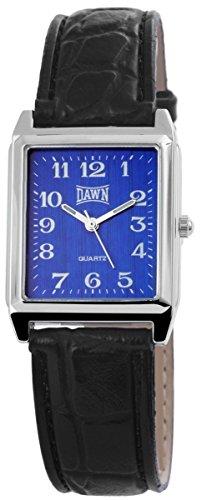 mit Lederimitationsarmband Armbanduhr Uhr Blau 100323000217