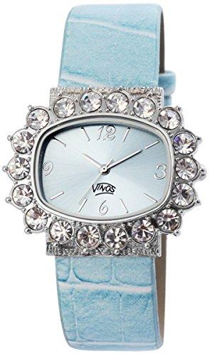 mit Lederimitationsarmband Armbanduhr Uhr Hellblau 100323500145