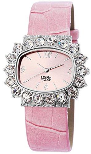 mit Lederimitationsarmband Armbanduhr Uhr Rosa 100325500136