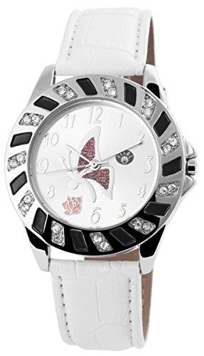 mit Lederimitationsarmband Armbanduhr Uhr silberfarbig 100322500137
