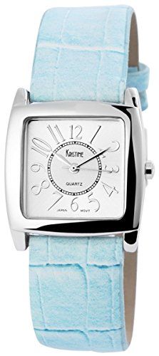 mit Lederimitationsarmband Armbanduhr Uhr silberfarbig 100322500142