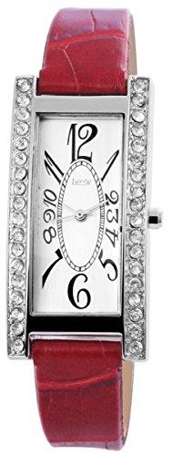 mit Lederimitationsarmband Armbanduhr Uhr silberfarbig 100322500143