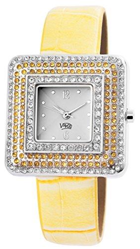 mit Lederimitationsarmband Armbanduhr Uhr Weiss 100322000218