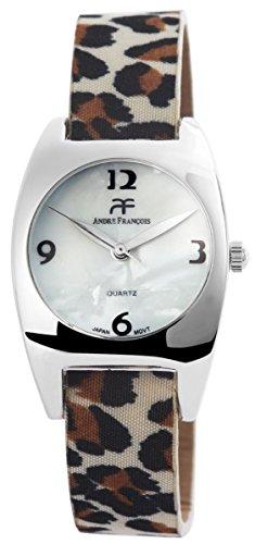 mit Lederimitationsarmband Armbanduhr Uhr Weiss 100322500141