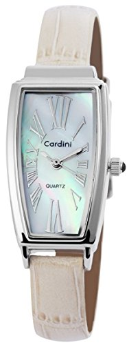 mit Lederimitationsarmband Armbanduhr Uhr Weiss 100322500147