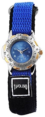 mit Textilklettband Armbanduhr Uhr Hellblau 100513000009