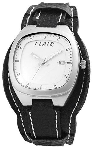 mit Lederimitationarmband Armbanduhr Uhr watch Weiss 200322000016