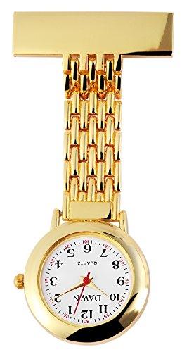 Krankenschwesteruhr mit Metallarmband Weiss Armbanduhr Uhr 100402000017