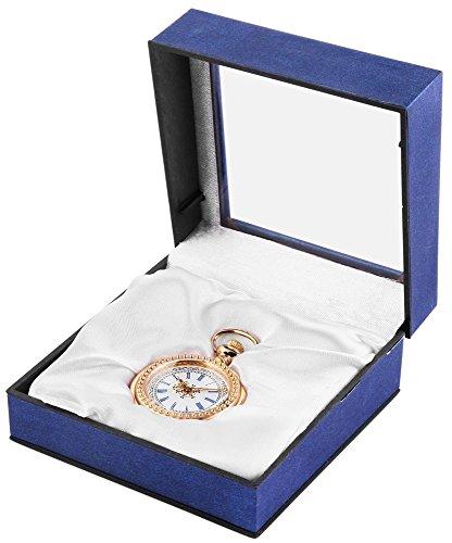 Analog Taschenuhr mit Quarzwerk 485702000003 Goldfarbiges Gehaeuse im Masse 39mm x 14mm mit Mineralglas