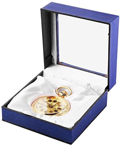 Analog Taschenuhr mit Quarzwerk mit Motiv Schiff 485704000014 Goldfarbiges Gehaeuse im Masse 47mm x 12mm mit Mineralglas