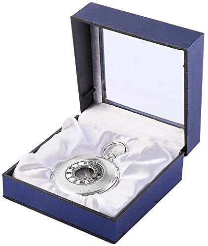 Analog Taschenuhr mit Quarzwerk 485822000006 Silberfarbiges Gehaeuse im Masse 50mm x 16mm mit Mineralglas