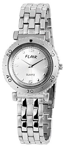 Unisexuhr mit Metallarmband silberfarbig Armbanduhr Uhr 200422500030