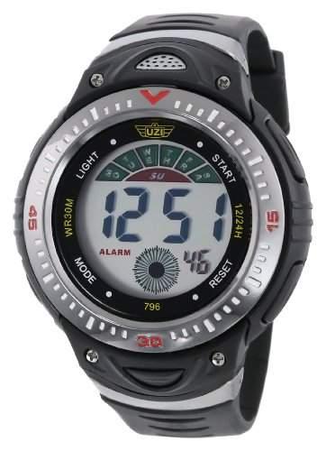 Uzi Herren UZI-W-796 Sports Digital Black Band Armbanduhr