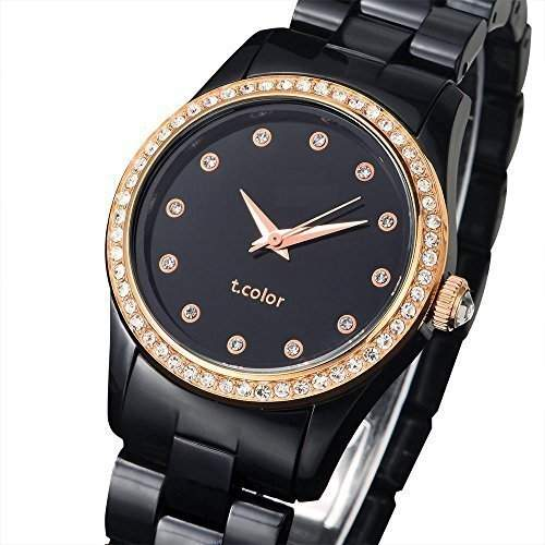 AIBI Wasserdichte Damen Uhren Schwarzes Gold Plastik Uhr