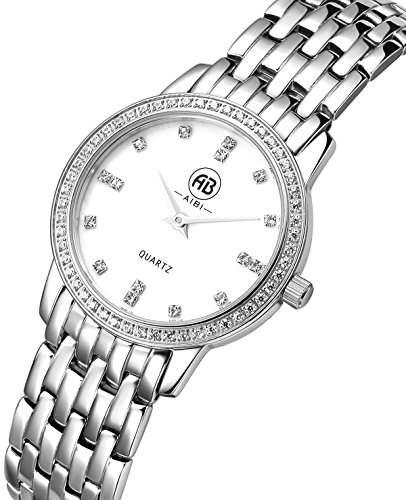 AIBI Wasserdichte Damen-Armbanduhr XS Silber Edelstahl AB00101-1